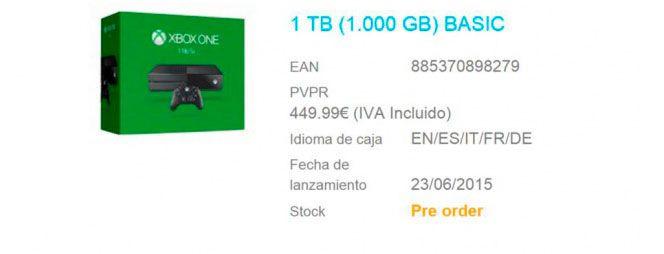 Microsoft prepara una xbox one con disco duro de 1 tb for Cuanto dinero tiene un cajero