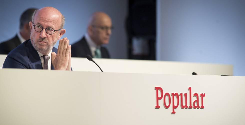 El presidente del Banco Popular, Emilio Saracho.