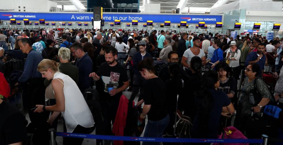 Retrasos por caída global del sistema de British Airways