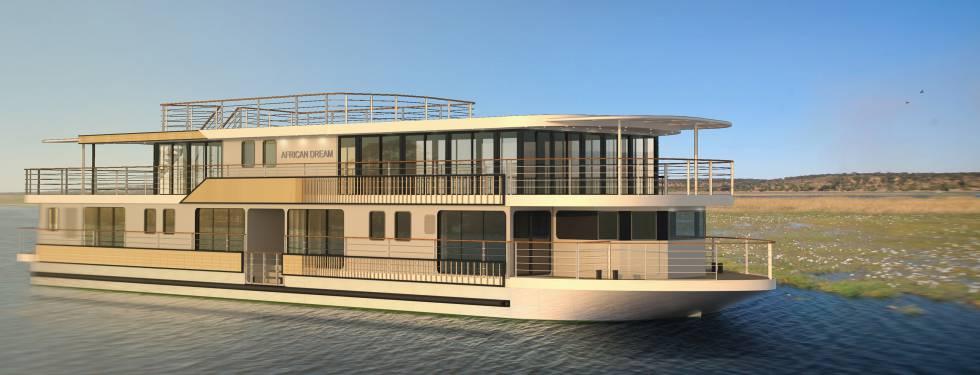 El futuro crucero de CroisiEurope que navegará a partir de finales de este año por el sur de África.