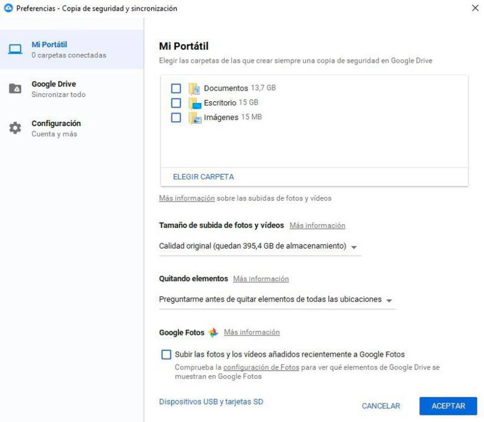 Ahora es posible respaldar toda la PC con Google Drive