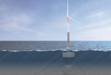 Telwind, torre telescópica de cimentación flotante. La ingeniería de detalle de este proyecto ha recibido 3,5 millones de euros de Horizonte 2020.