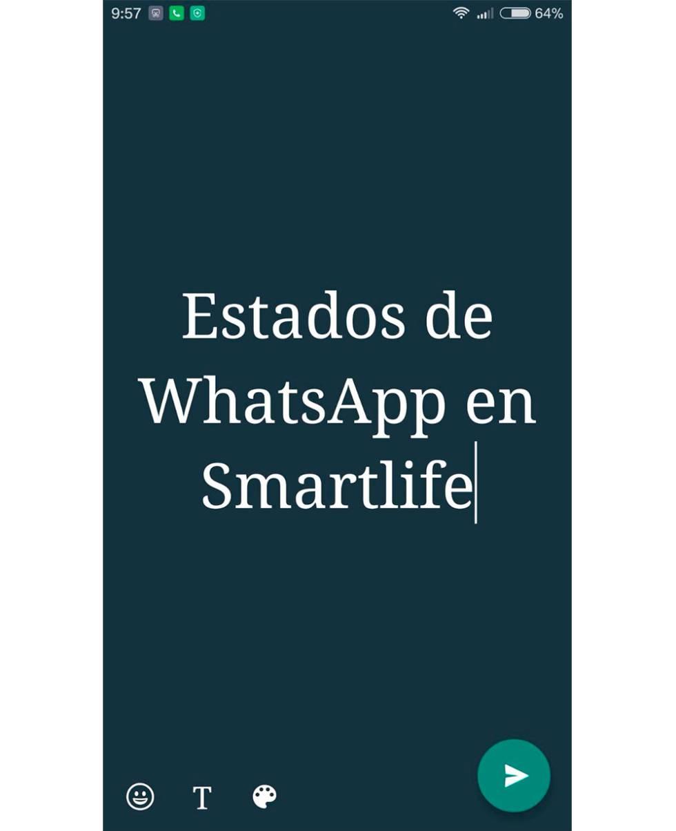 Configurar estados de texto de WhatsApp