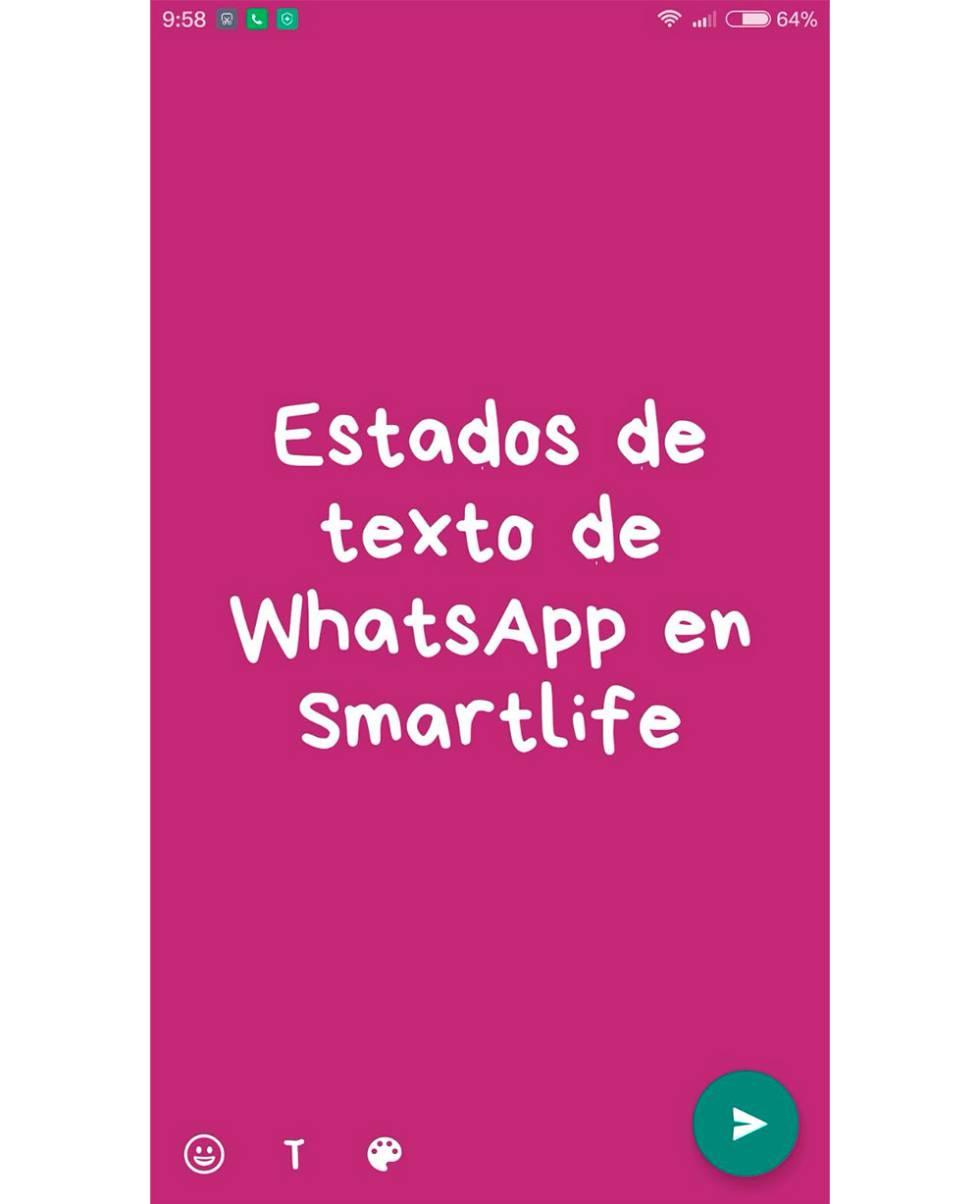 Colores y fuentes Estados de texto de WhatsApp