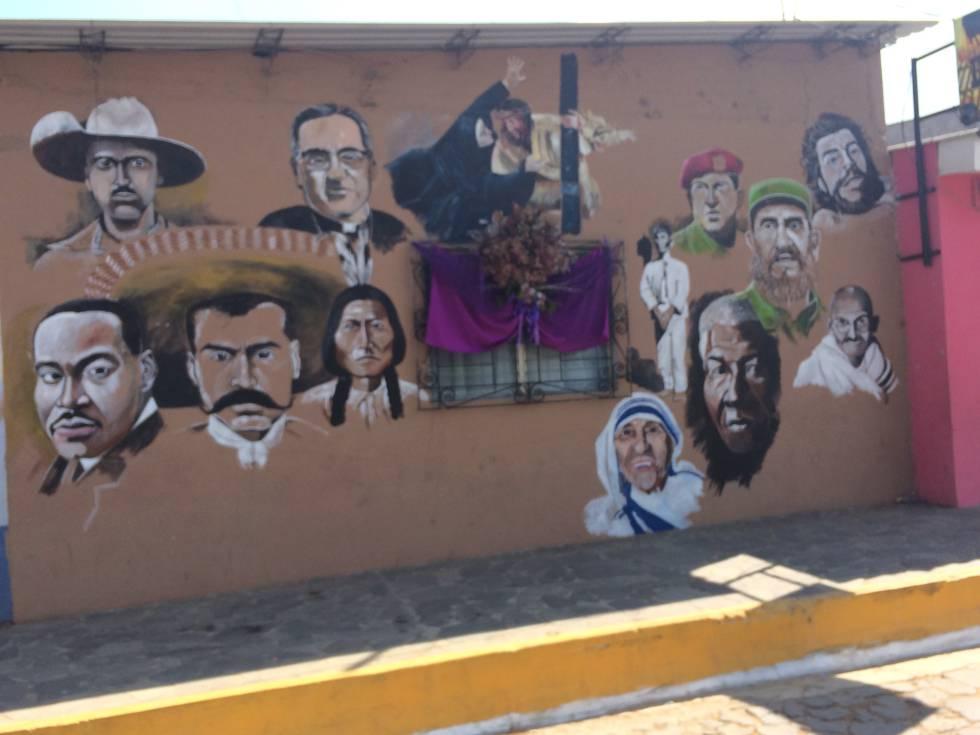 Uno de los populares murales que adornan las fachadas de las ciudades.