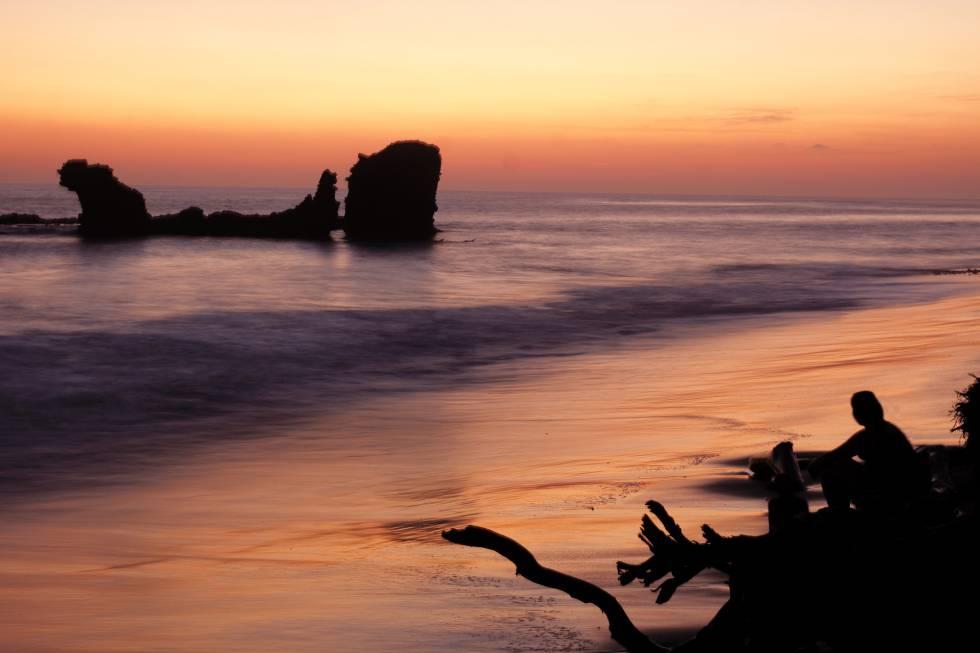 Playa de El Tunco.
