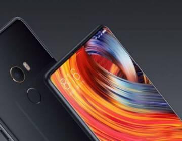 Modelo Mi Mix 2 de Xiaomi con pantalla sin marco.