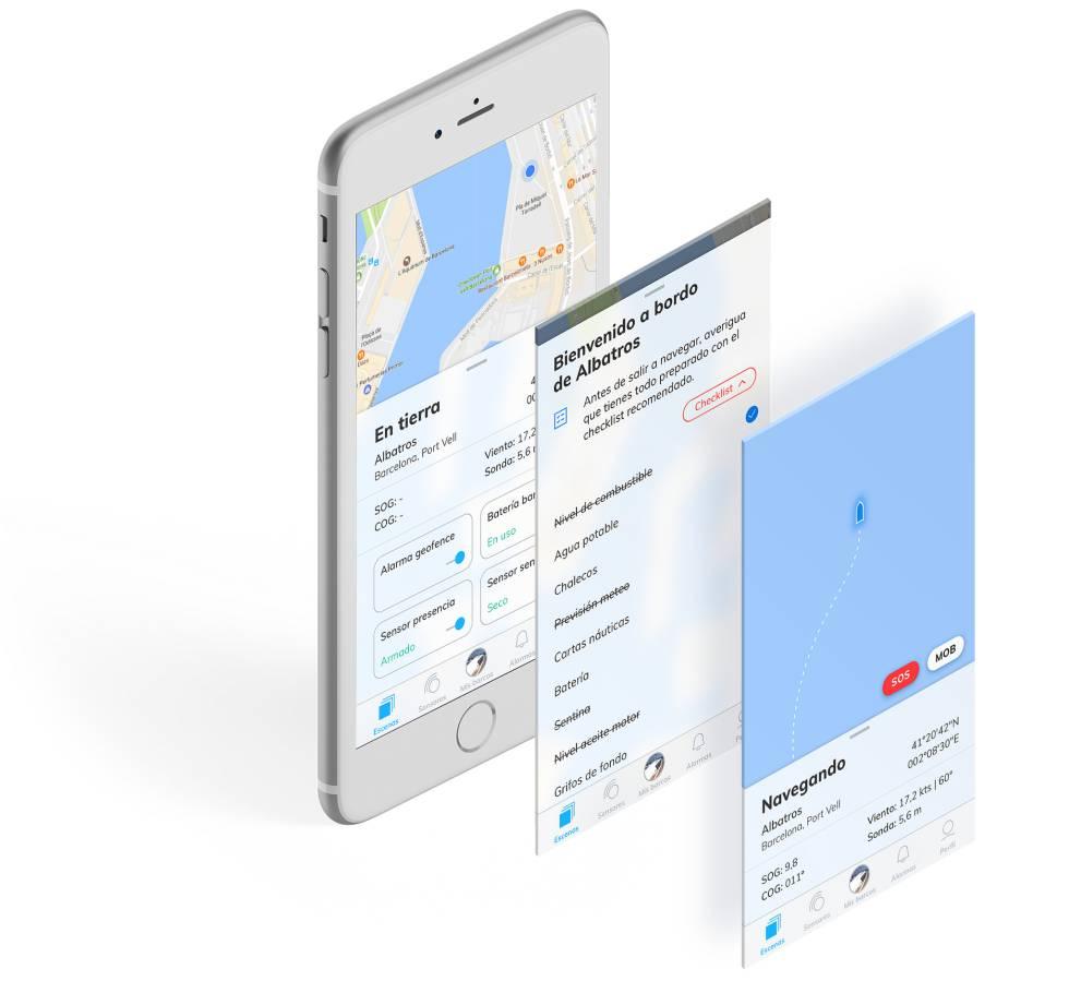 La aplicación SmartBoat.