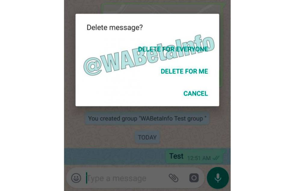 Whatsapp inaugura la eliminación de mensajes enviados