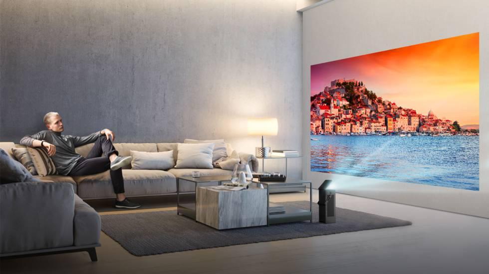 LG presenta proyector de hasta 150 pulgadas 4K HDR #CES2018