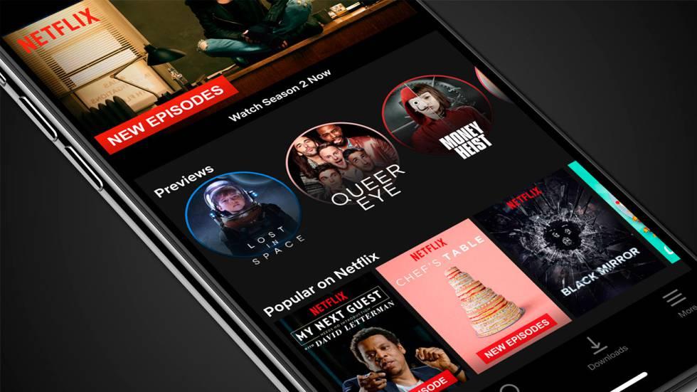 Netflix lanza avances, stories de sus contenidos en la app móvil