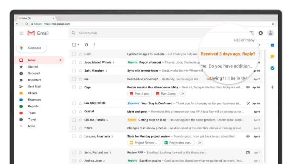 Llegó el nuevo Gmail, aquí tenéis todos los detalles