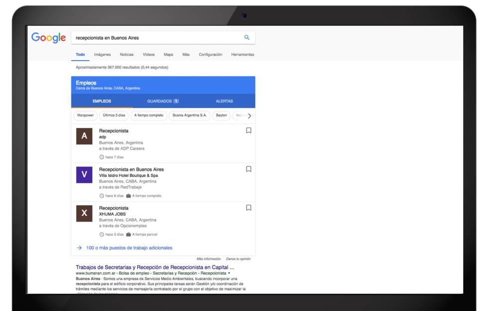 Google lanza su buscador de empleo en España