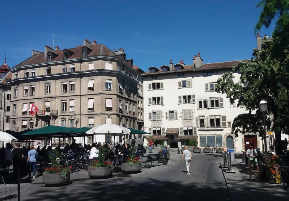 Centro storico di Ginevra (Svizzera).