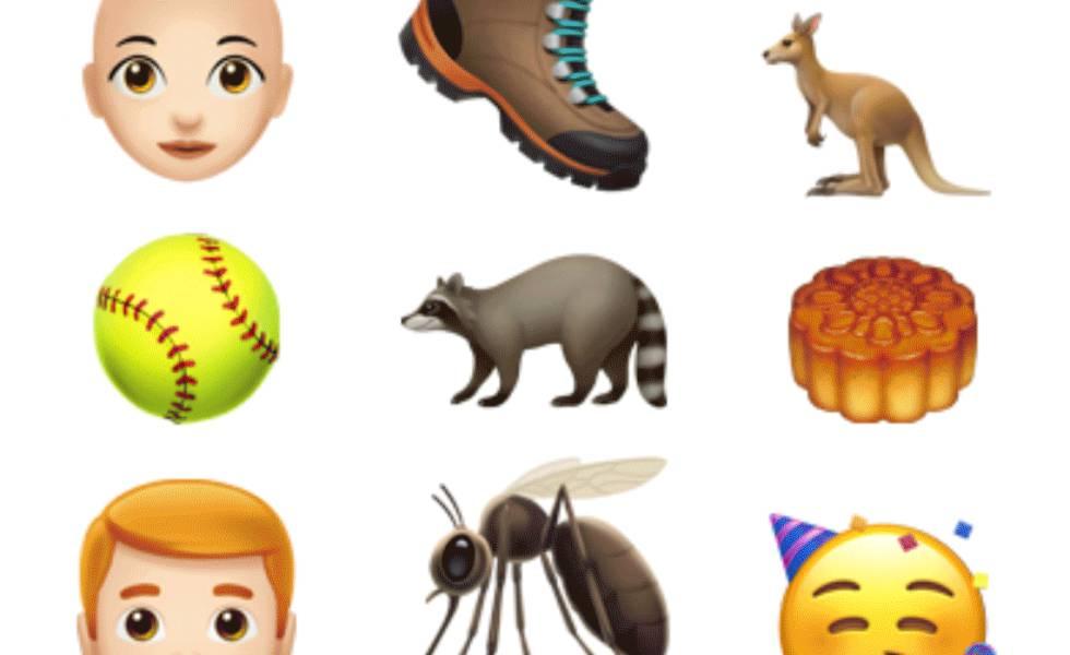 Algunos de los emoji de iOS 12.1