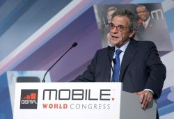 César Alierta, el 25 de febrero en el Mobile World Congress.