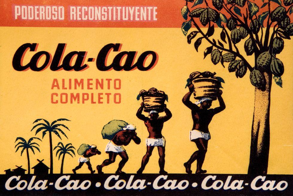 Antigua etiqueta de Cola-Cao