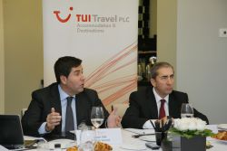 Joan Vilà, director general de TUI Travel A&D, y Andrés García-Tenorio, director financiero.