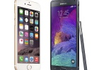 iPhone 6 Plus vs Samsung Galaxy Note 4: lucha por encima de las 5 pulgadas