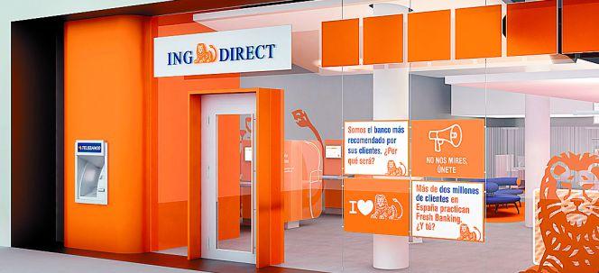 Ing direct vuelve a bajar la rentabilidad de su cuenta for Oficinas en madrid de ing direct