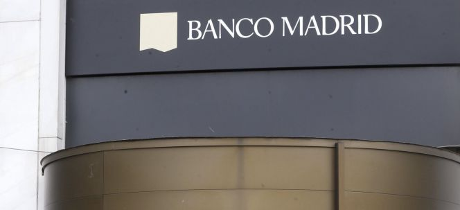 La sede del Banco Madrid,.