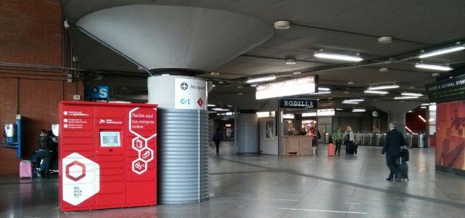 cf91faed6 Una taquilla automatizada de My Pick box en una estación de Renfe en Madrid.