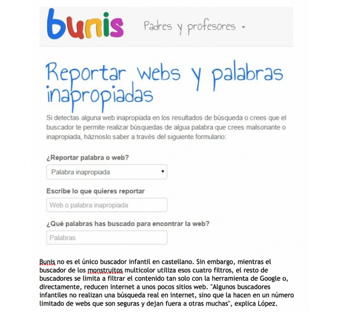 "Bunis: el Google infantil ""made in Spain"""