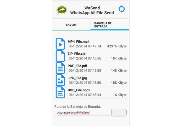 no puedo descargar archivos del whatsapp
