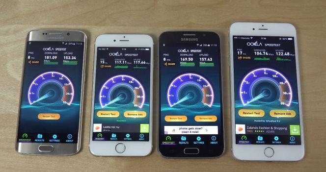 samsung galaxy s6 vs s6 edge vs iphone 6 vs 6 plus cu l