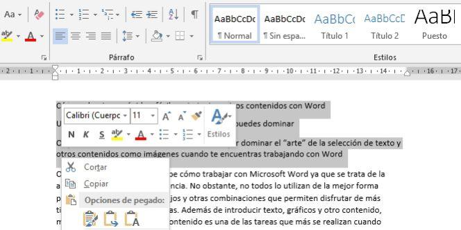 4a6107406 Cómo seleccionar rápida y fácilmente texto y otros contenidos con Word