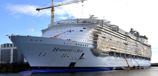 As se construye el barco crucero m s grande del mundo sentidos cinco d as - Mes del crucero ...