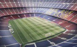 Recreación del Nou Camp Nou.