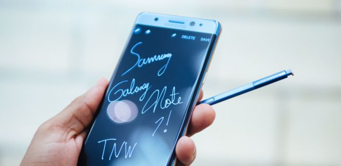 Samsung Galaxy Note 7 en uso