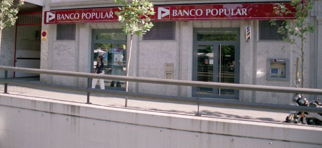 Una sucursal del Banco Popular en Madrid. EfeArchivo
