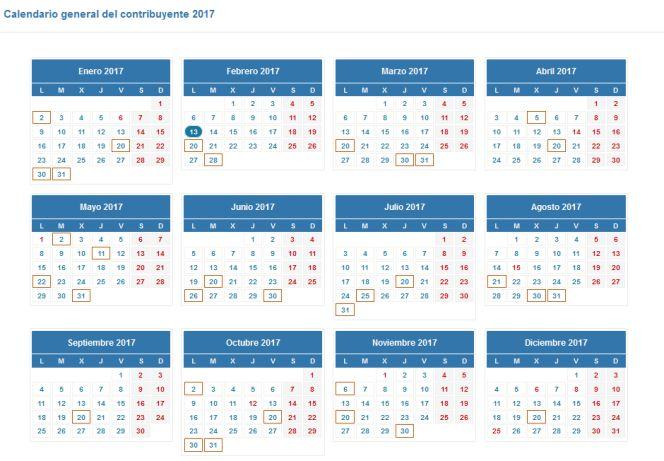 Aeat Calendario Fiscal 2020.Calendario Para Presentar La Declaracion De La Renta En 2017