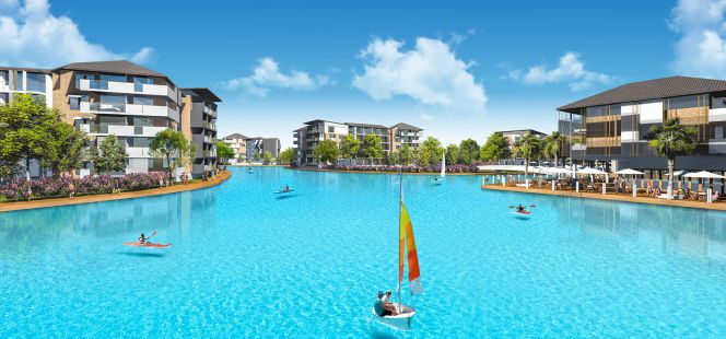 Crystal lagoons ponga una playa en cualquier parte del for Lagunas artificiales construccion
