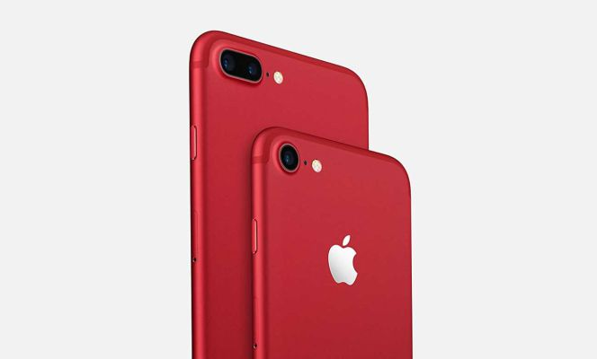 53db1a4b7bd Apple lanza los iPhone 7 y 7 Plus de color rojo junto a los iPhone ...