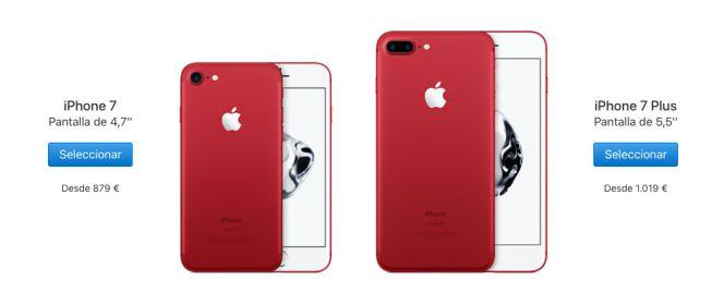 e34521044ff Ya a la venta en España el iPhone 7 de color rojo junto a los nuevos ...