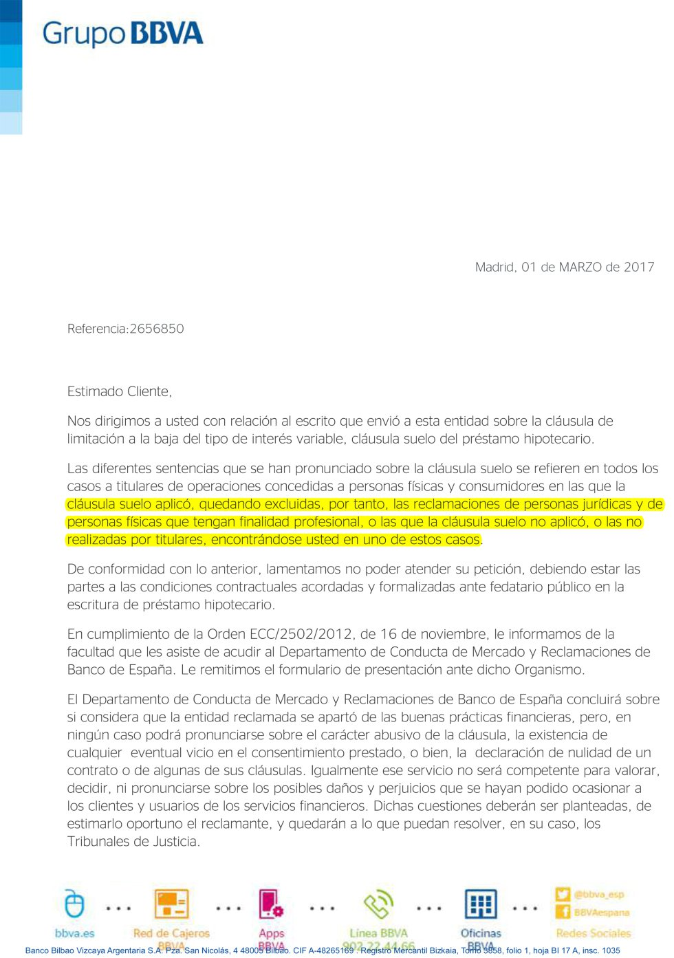 All categories prestamos rapidos panama for Documentacion para reclamar clausula suelo