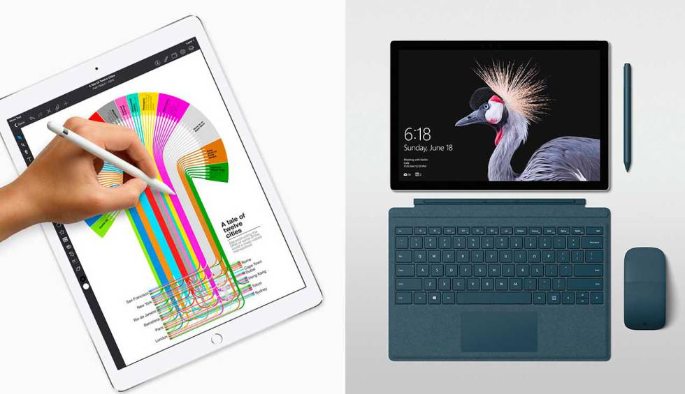 Comparativa iPad Pro vs Surface