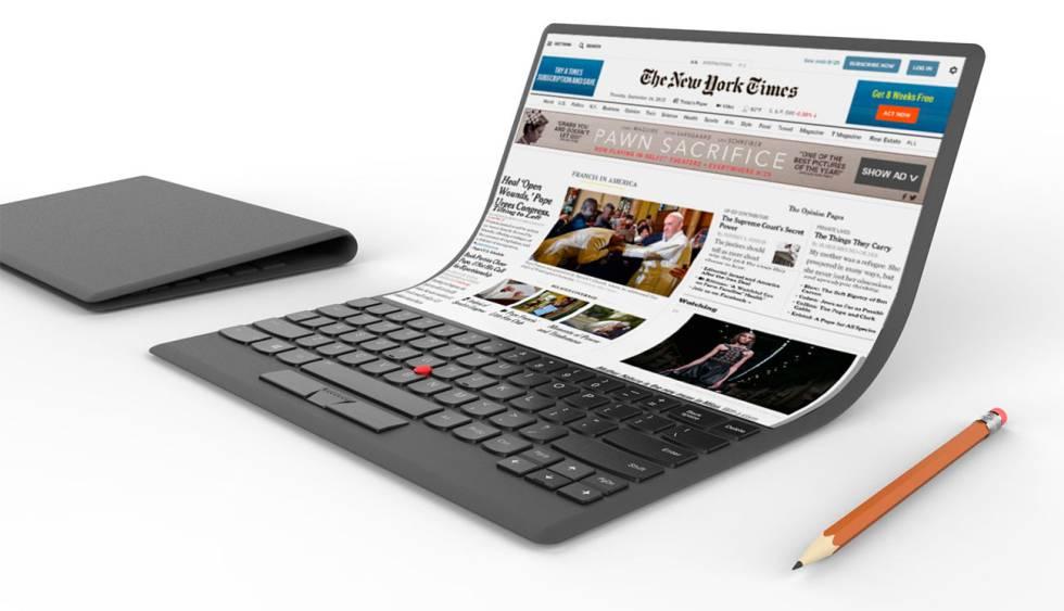 Así serán los ordenadores portátiles completamente flexibles en el futuro