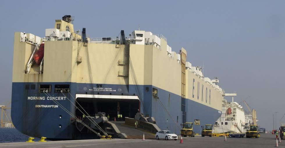 Aspecto del Puerto Hamad,a unos 35 kilómetros al sur de Doha