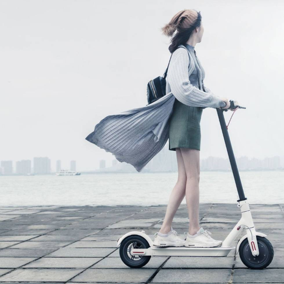 Scooter Xiaomi blanco
