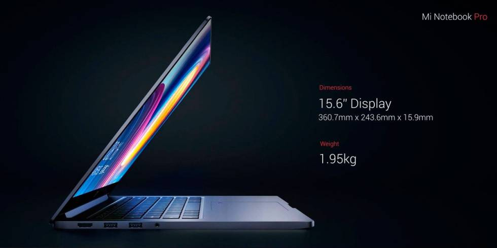 Xiaomi Mi Notebook Pro lateral