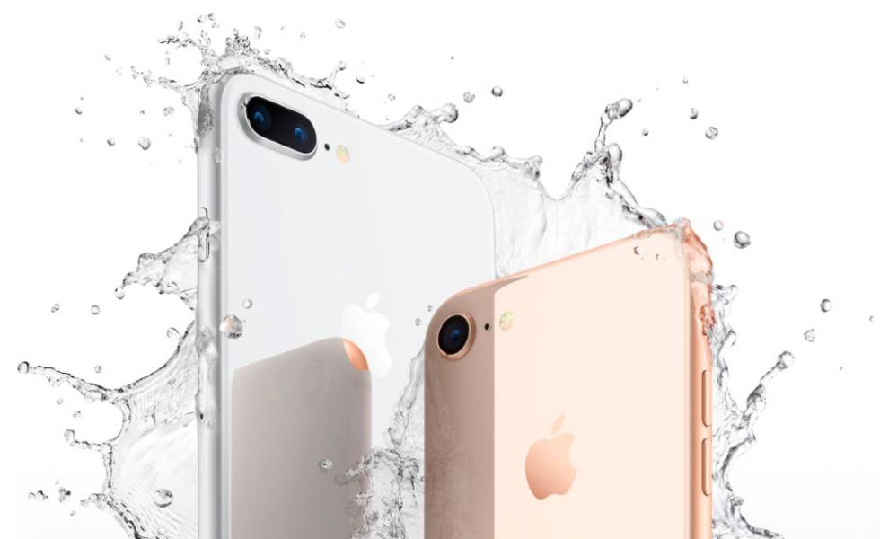 iPhone 8 y 8 Plus gris y dorado