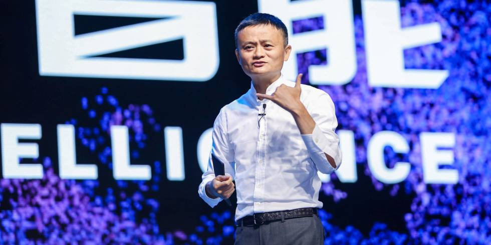 Jack Ma, presidente de Alibaba Group, durante una conferencia en Hangzhou (China).