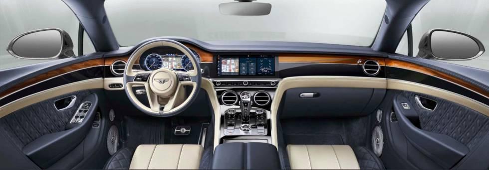 Qu deportivos conducen los consejeros delegados Bentley continental gt 2017 interior