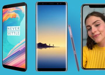 Comparativa del OnePlus 5T frente al iPhone X y el Samsung Galaxy Note 8