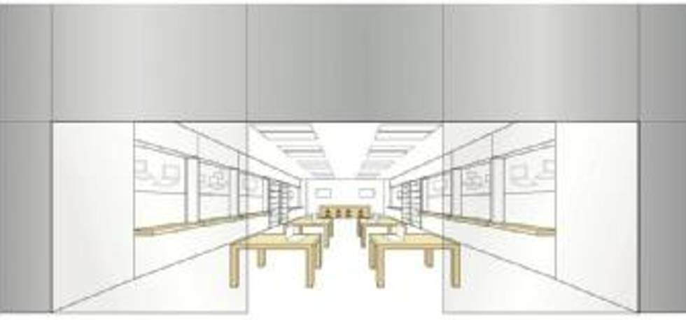 Diseño distribución tienda Apple.