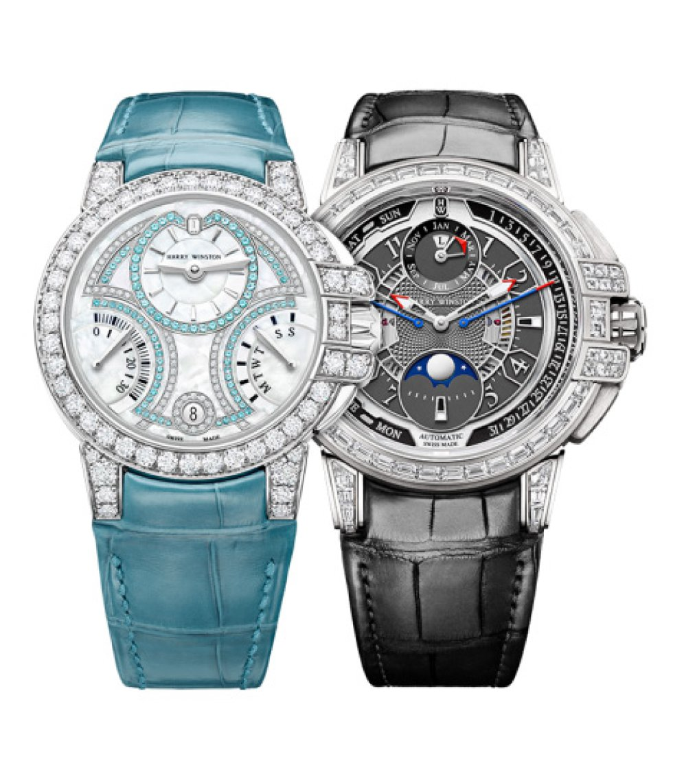 Harry Winston celebra el 20 aniversario de su línea de mujer Ocean Collection, con estas dos ediciones limitadas: el Biretrograde Automatic 36mm, y el Ocean Waterfall Automatic 36mm, que tiene hasta 404 diamantes y 43 zafiros rosados.
